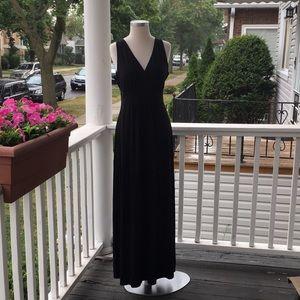 Willi Smith black maxi dress